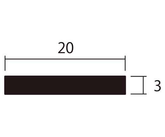アルミ平棒 1m 3.0×20mm ブロンズ 4本組