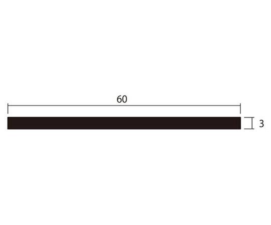 アルミ平棒 1m 3.0×60mm ブロンズ 4本組