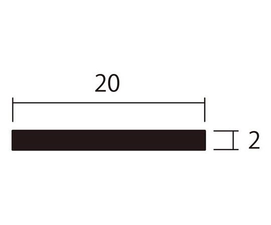 アルミ平棒 1m 2.0×20mm ブラック 4本組