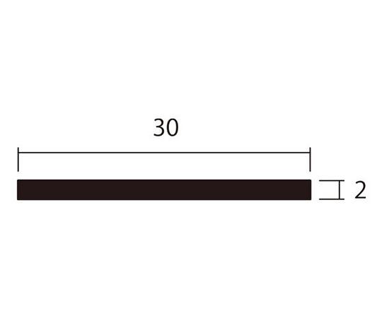 アルミ平棒 1m 2.0×30mm ブラック 4本組