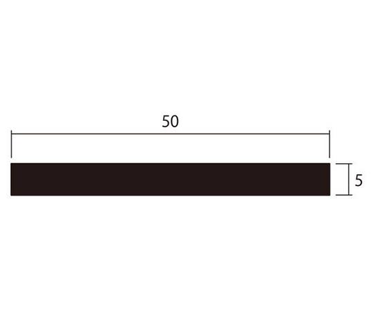 アルミ平棒 1m 5.0×50mm ブラック 4本組