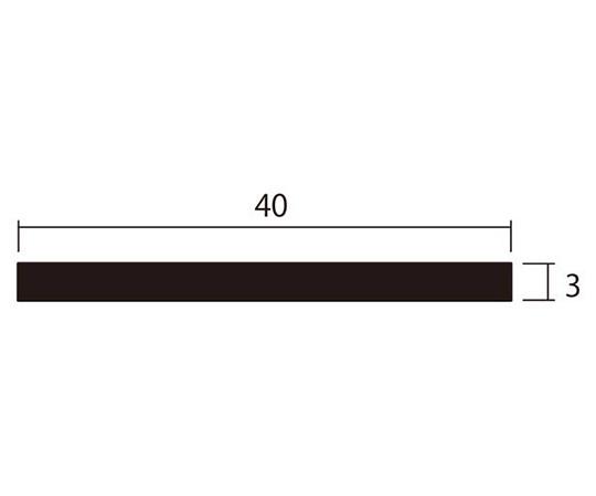 アルミ平棒 1m 3.0×40mm ステンカラー 4本組