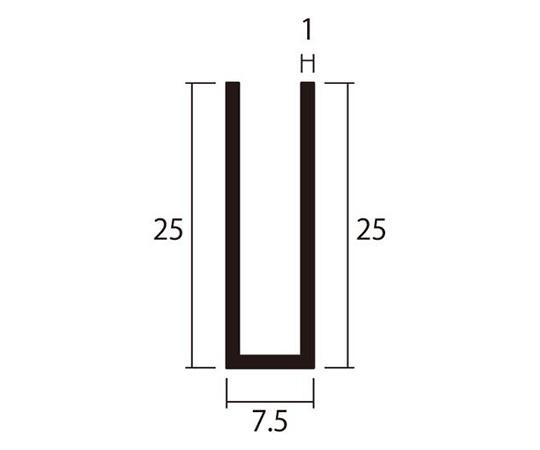 アルミチャンネル 1m 1.0×7.5×25mm シルバー 4本組