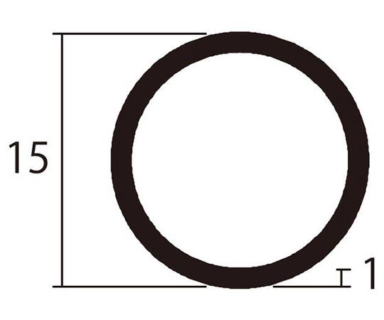 アルミ丸パイプ 1m 1.0×15mm シルバー 4本組