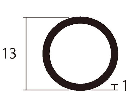 アルミ丸パイプ 1m 1.0×13mm ブラック 4本組