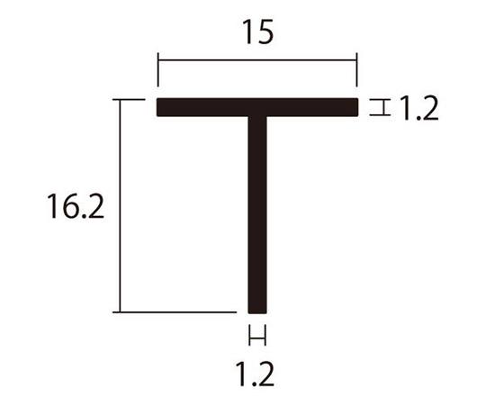 アルミT型 1m 1.2×15×16.2mm シルバー 4本組
