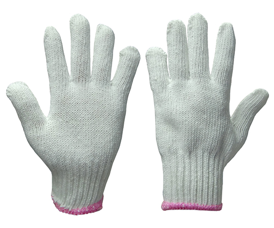 レディグローブ 女性用軍手 白 5双入×10袋