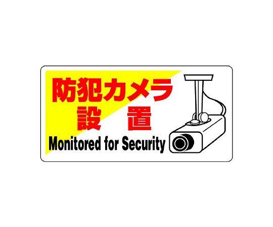 802-60 防犯用標識 防犯カメラ設置