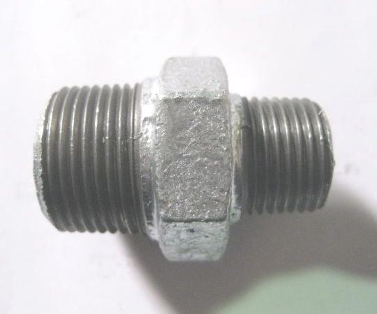 異径六角ニップル 白(50A×25A、2B×1B) シロRHXNI-50AX25A