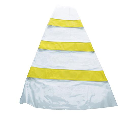 安全コーン用反射材後付けカバー 反射材黄色