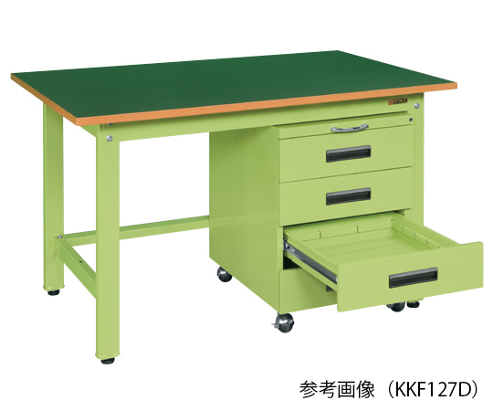 軽量作業台・KKタイプ (キャビネットワゴン付)
