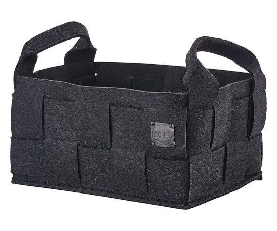 バスルーム/マガジンバスケット ブラック VZC5201