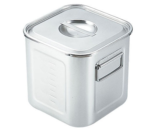 SAモリブデン深型角キッチンポット 目盛付(手付) 30cm AKK05030