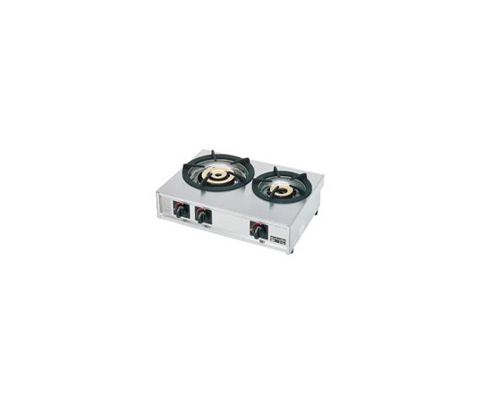 ガステーブルコンロ親子二口コンロ M-212C LPガス DKV1801