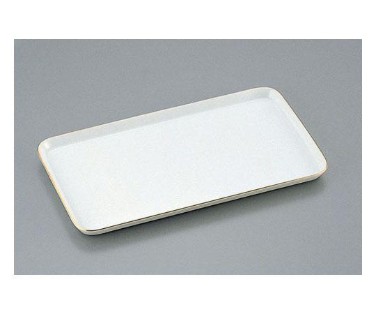 陶器製 ケーキトレー角型(金線入) EM-17-WS