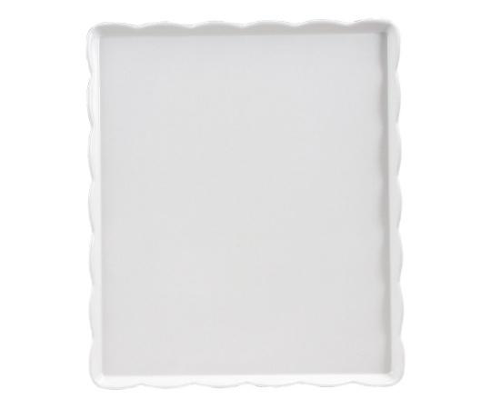 ウェーブメラミンケーキトレー(白) YO-3035-W