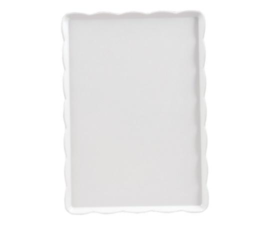ウェーブメラミンケーキトレー(白) YO-2535-W