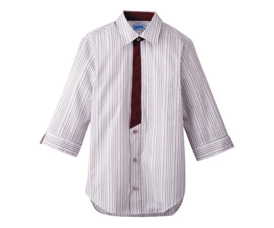 男女兼用七分袖シャツ L エンジ BT-3121