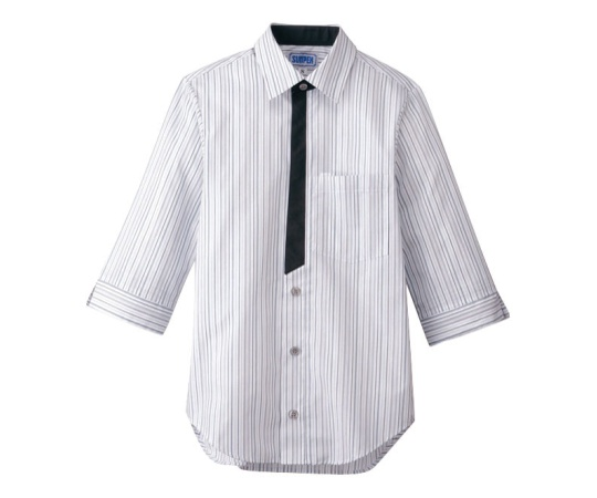 男女兼用七分袖シャツ L グレー BT-3122