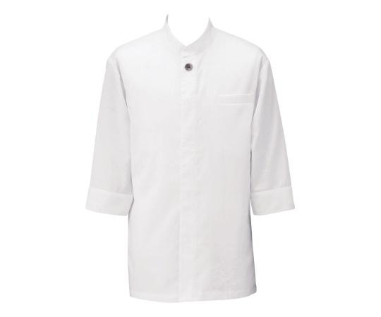アゼック和風コートシャツ・シングル ホワイト 3L SLB910-1