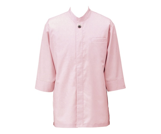 アゼック和風コートシャツ・シングル ピンク L SLB910-2