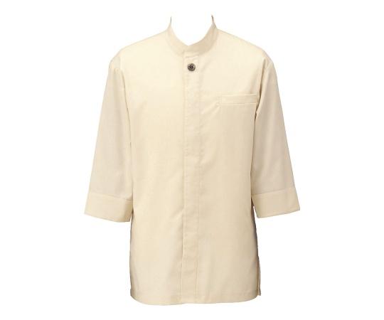 アゼック和風コートシャツ・シングル ベージュ L SLB910-3