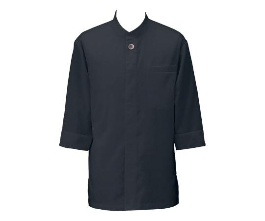 アゼック和風コートシャツ・シングル ブラック LL SLB910-4