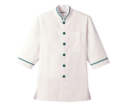 ショップコート (O白×緑) 4L D-1129