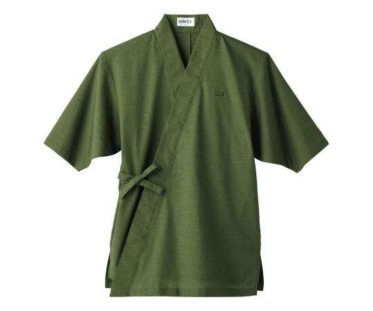 男女兼用 作務衣 L (グリーン) H-2093
