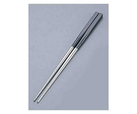 [取扱停止]PC柄ステンレス軽量箸(スベリ止付) 24cm ダークブラウン