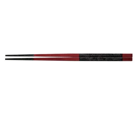 PBT越前角箸(10膳入)溜に黒乾漆帯 24cm 90030874