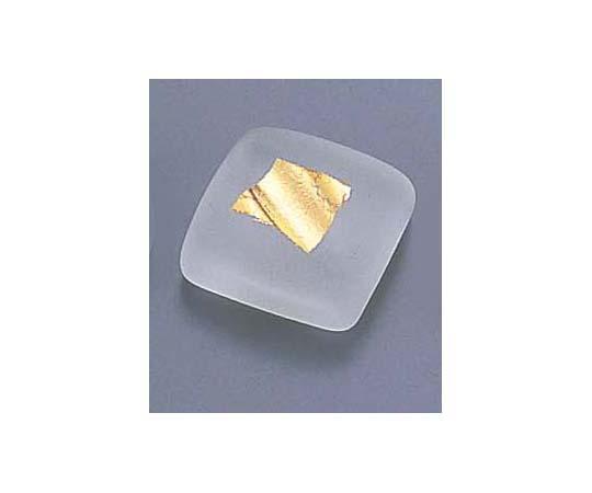 ガラス角金箔箸置 T28-01