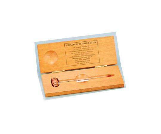 [取扱停止]ワイン温度計 No.5680(木箱入) POV01