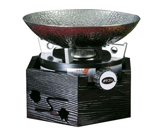 ガス充填式 ポケコン六角・黒塗りセット S-9061万能アダプターなし QKV7101