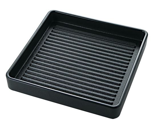 ABS製 正角肉皿 黒(塗無) 16cm 54250080