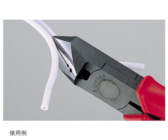 斜ニッパ 穴付 バネ付 成形グリップ DNP-150ZH-S