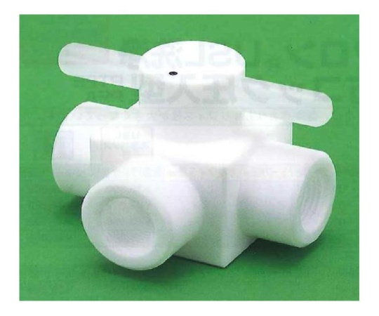 USL-PTFE 洗浄メス3方コック圧入型