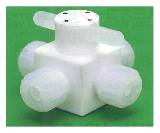 USL-PTFE 洗浄4方コック圧入型 00Uシリーズ