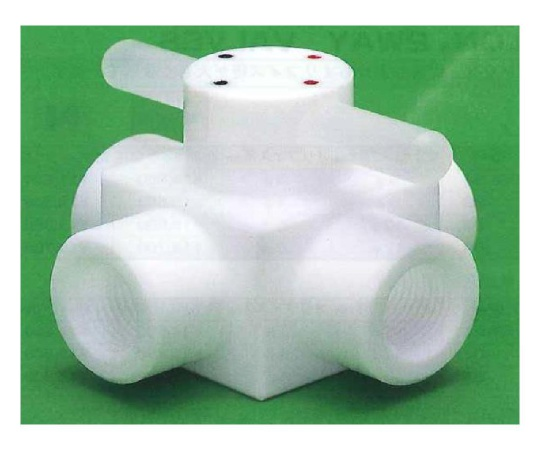USL-PTFE 洗浄メス4方コック圧入型