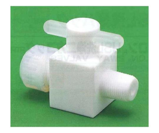 USL-PTFE 洗浄オス2方バルブ 圧入型
