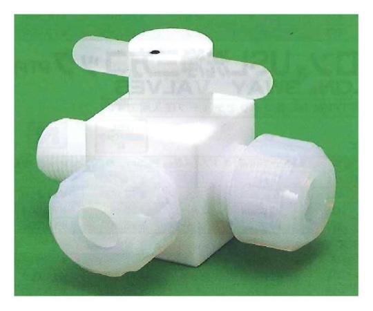 USL-PTFE 洗浄オス3方バルブ 圧入型