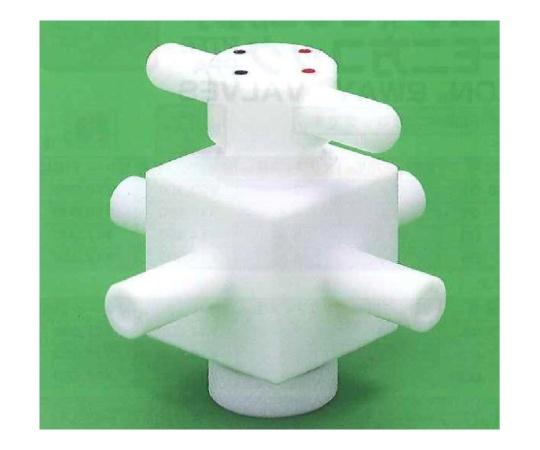 USL-PTFE 洗浄4方コック (チューブ圧入用)