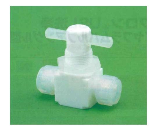 USL-PTFE 洗浄メス2方コック (圧入型パネル用)