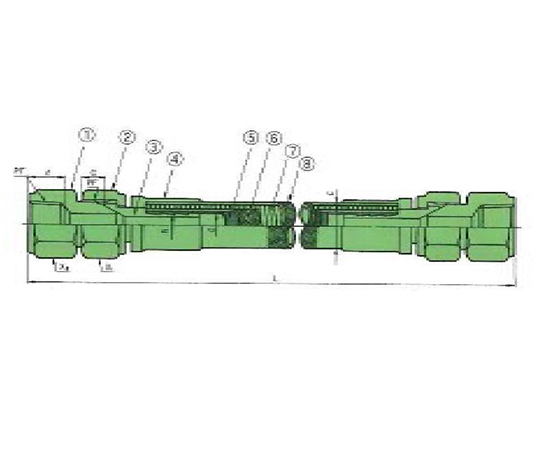 USL高圧用ホース(PFAストレートチューブ)B型
