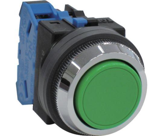 平形押しボタンスイッチ 緑 ABN110G