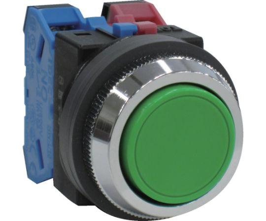 平形押しボタンスイッチ 緑 ABN111G