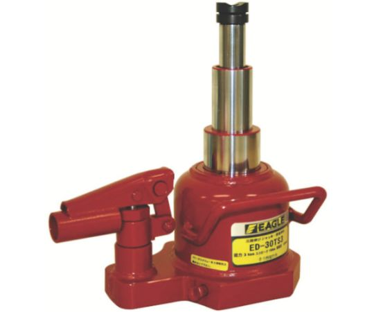 3-Stage Flexible Lever Rotating Hydraulic Jack Capacity 3t ED30TS3