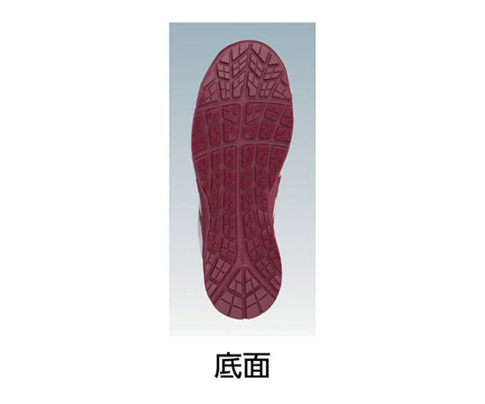 ウィンジョブ CP302 ホワイト×バーガンディ 27.5cm FCP302.012627.5