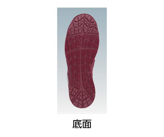 ウィンジョブ CP302 ホワイト×バーガンディ 28.0cm
