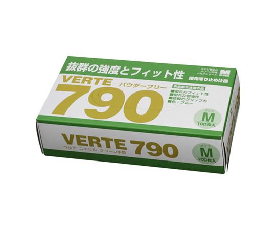 ニトリルディスポ手袋 ベルテ790 100枚入 M VERTE790M